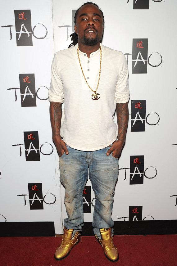 Wale on red carpet at TAO