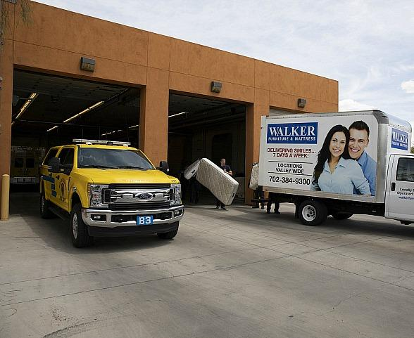 Firehouse 27 Receives New Mattresses Donated by Walker Furniture and Its 'Project Firehouse: Rested & Ready' Program