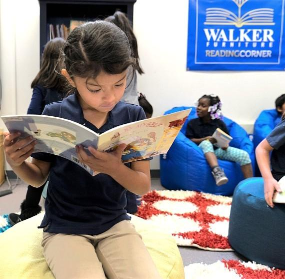 Ira J. Earl Elementary School Wins Walker Furniture's 'All About Reading' Competition