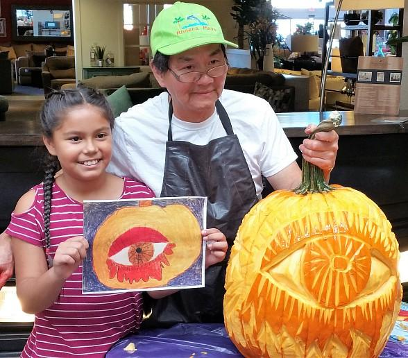 Robert E. Lake Elementary School Students Create Top Three Winning Drawings in Annual Walker Furniture Halloween Pumpkin Drawing Contest