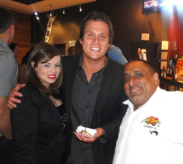 """Bob Guiney from ABC's """"The Bachelor,"""" and FIRST's Chef Sammy D and Cecilia Berumen"""