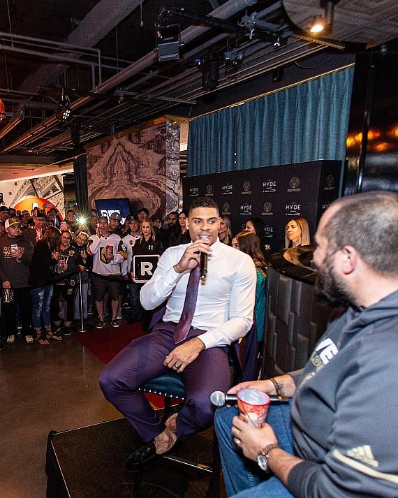 "Wayne ""Big D"" Danielson hosts Q&A session with Ryan Reaves at Hyde Lounge"