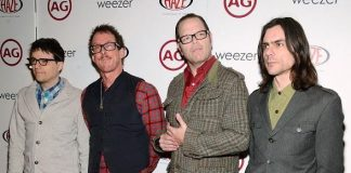 Weezer on red carpet at Haze Nightclub