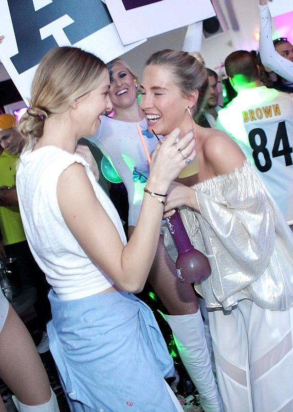 Whitney Port Celebrates Sister Jade's Bachelorette Party at Palms with Family and Friends