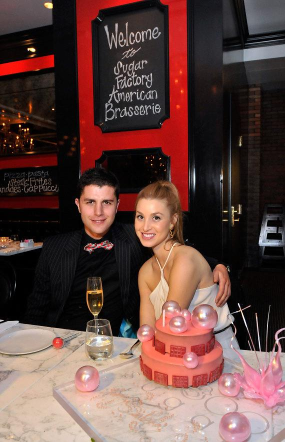 Holly Madison, Josh Strickland and Laura Croft with Couture Pops at Sugar Factory American Brasserie