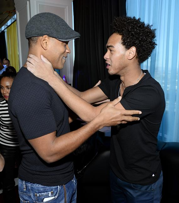 Actor Will Smith (L) and Trey 'DJ AcE' Smith attend DJ AcE's birthday celebration Ghostbar Dayclub at the Palms Casino Resort on November 15, 2014