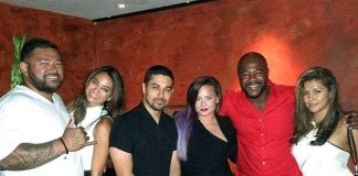 Wilmer Valderrama, Demi Lovato, Rashad Evans and friends at TAO