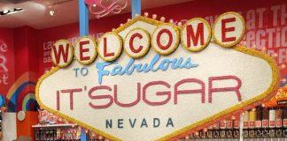 IT'SUGAR celebrates the opening of the largest candy store in Las Vegas with Wonka Oompa Loompas at the Venetian