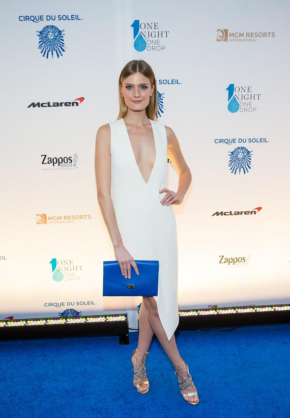 Model Constance Jablonski at 'One Night for ONE DROP'