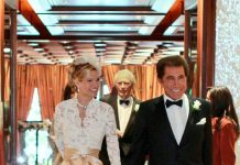 Mr & Mrs. Stephen Wynn with actor Clint Eastwood in background