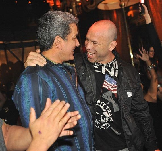 Bruce Buffer and Wanderlei Silva at XS