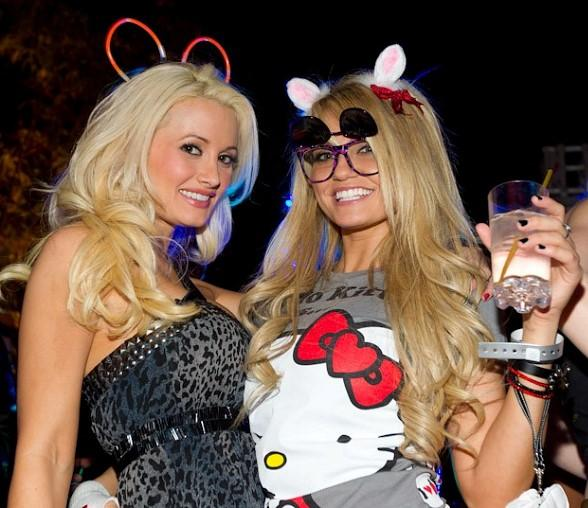 Holly Madison and Angel Porrino at XS Nightclub