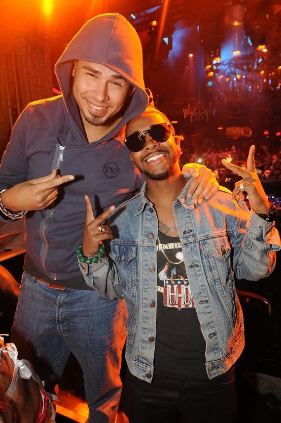 Afrojack and Omarion at XS Nightclub