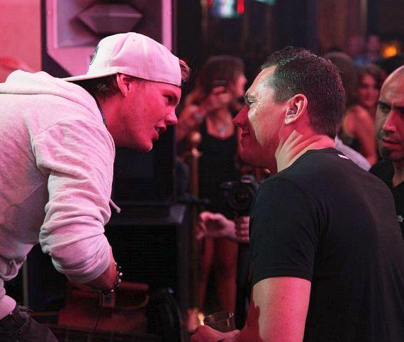 Avicii and Tiesto at XS Nightclub