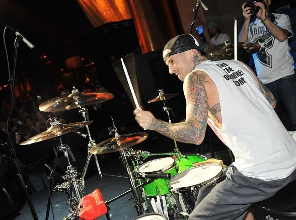 Travis Barker at XS Nightclub