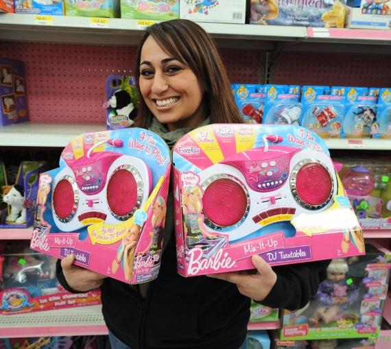 Wynn Las Vegas Director of Nightlife Entertainment Zee Zandi purchases Barbie DJ turntables