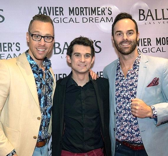Xavier Mortimer (C) and The Naked Magicians at Bally's Las Vegas