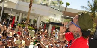Yelawolf performs at Palms Pool's Ditch Fridays party in Las Vegas