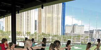 TruFusion Brings the Tree Pose to the Tee Line at Topgolf Las Vegas for Yoga with a View