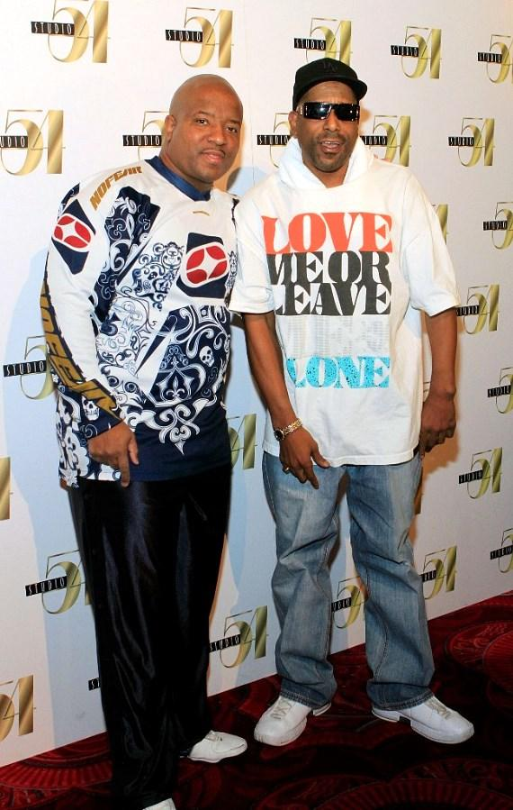 Young MC and Tone Loc on the carpet at Studio 54