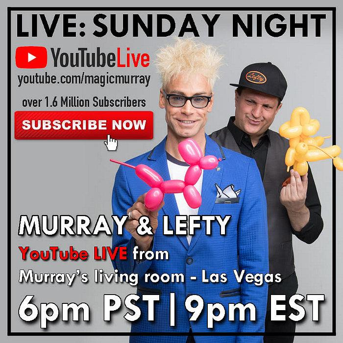 Murray The Magician to Perform Live Facebook & YouTube Shows April 11-12