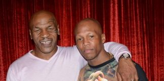 """Zab Judah attend Mike Tyson """"Undisputed Truth"""" at MGM Grand in Las Vegas"""