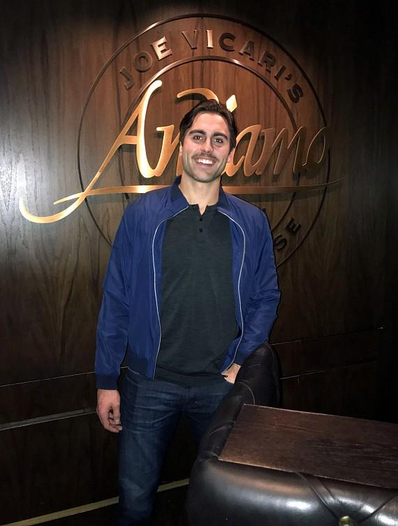 Alex Tuch, NHL Vegas Golden Knights player, at Andiamo Italian Steakhouse