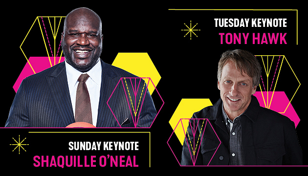 Shaquille O'Neal, Tony Hawk to Keynote AFP 2020 in Las Vegas