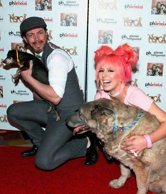 Annalee Belle and JD Scott at NSPCA Poker Tournament at Planet Hollywood Las Vegas