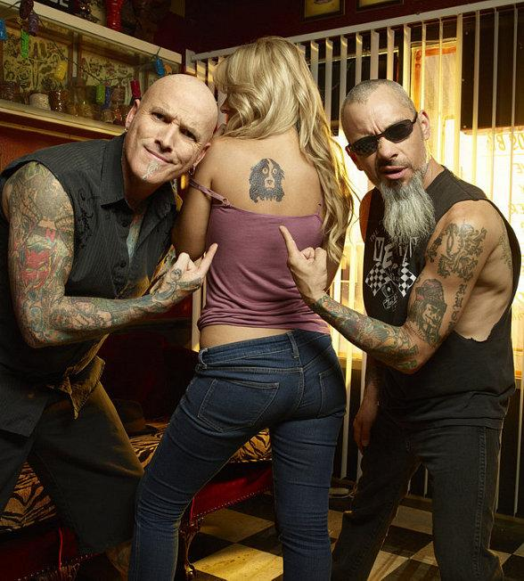 """Dirk Vermin and Rob Ruckus of A&E's """"Bad Ink"""""""