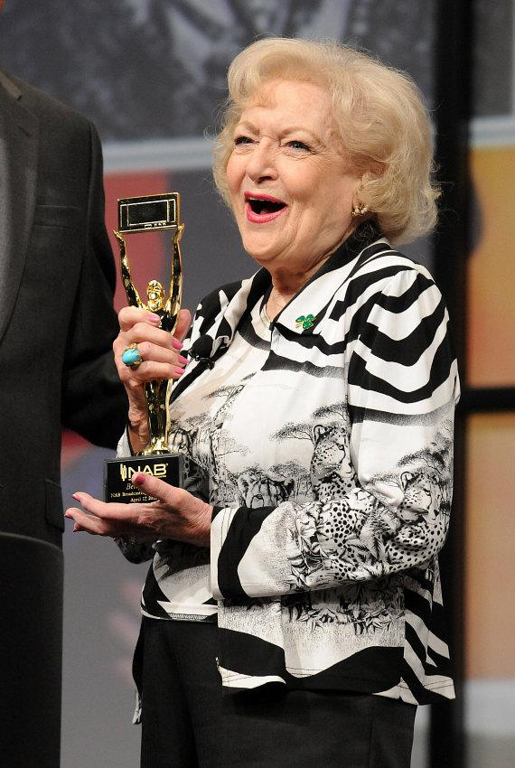 Betty White with NAB Hall of Fame Award