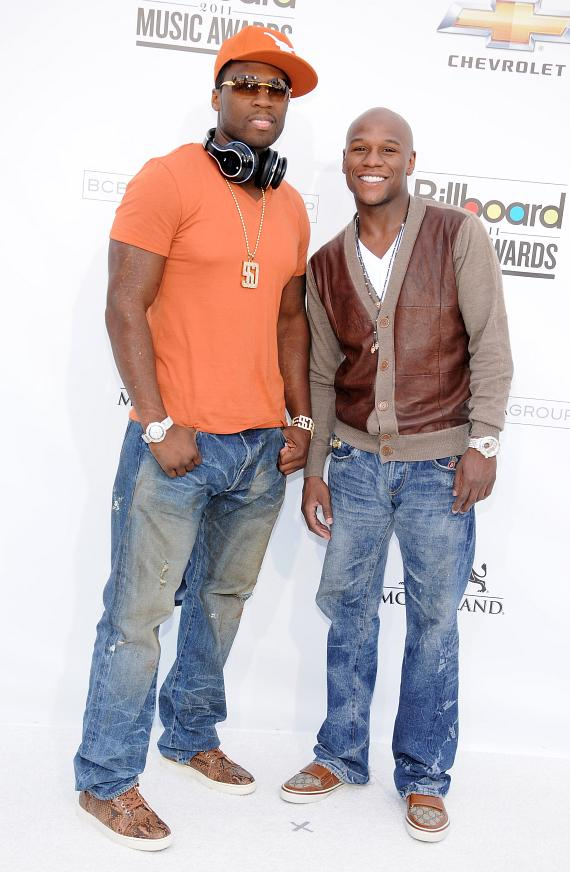 50 Cent and Floyd Mayweather, Jr.