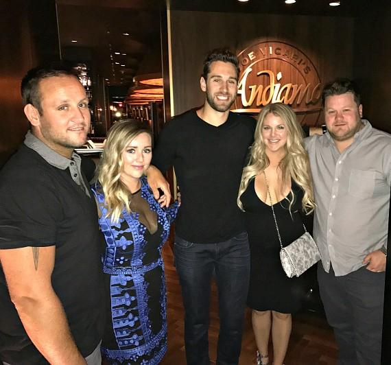 Cam Talbot, wife Kelly and friends dine inside Andiamo Italian Steakhouse Las Vegas