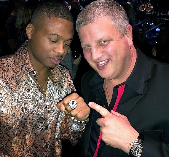Cardinals Adron Chambers MLB World Series Ring with D Casino Owner Derek Stevens