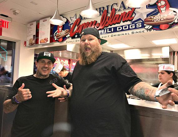 Carey Hart and Rapper Big B at American Coney Island in Las Vegas