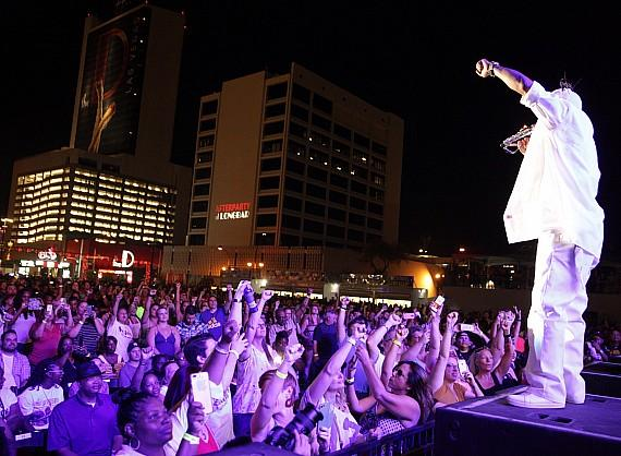 "Coolio performs for crowd at Downtown Las Vegas Events Center during ""I Love The 90s"" concert"