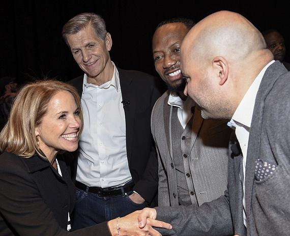 Katie Couric, Mark Pritchard, DK Bartley and Ricardo Marques at reception at the 2019 Advancing Diversity Hall of Honors Induction Experience
