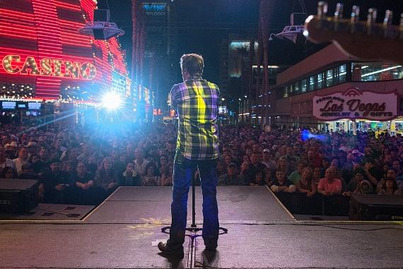 Craig Morgan performs for NASCAR fans at the D Las Vegas for Fremont Street Experience's 13th Annual RaceJam
