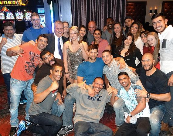 "Dana White with Derek Stevens and the contestants of this season's ""The Ultimate Fighter"""