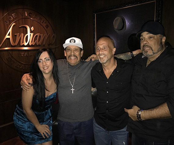 Actor Danny Trejo Dines Downtown at Andiamo Italian Steakhouse