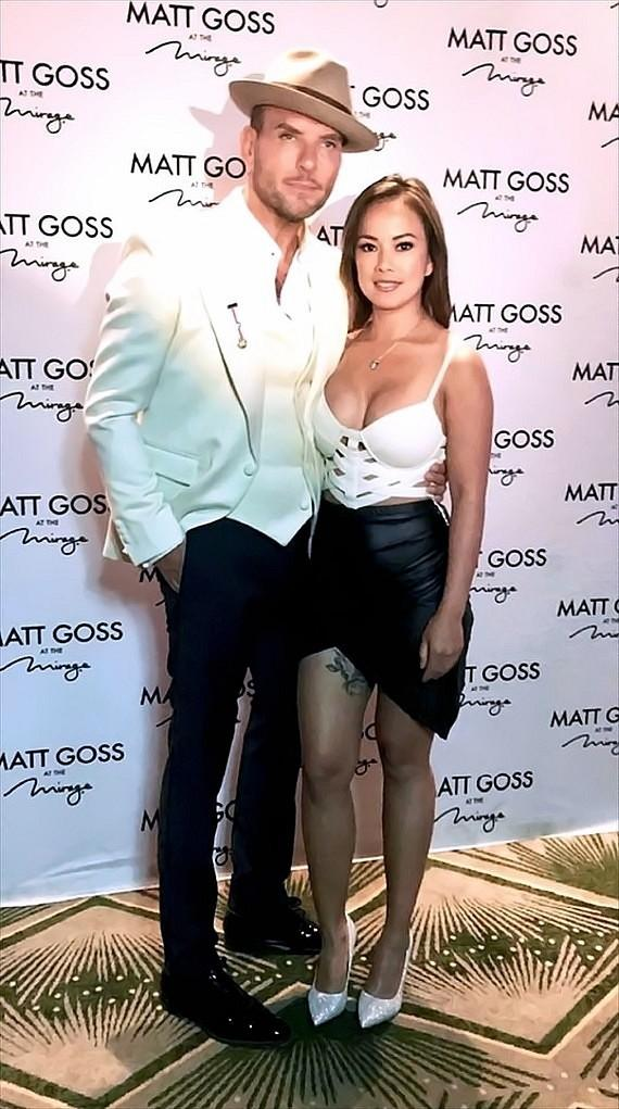 Matt Goss with dancer/actress Dixie Miranda
