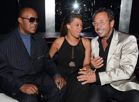 Stevie Wonder (l) with Victor Drai (r)