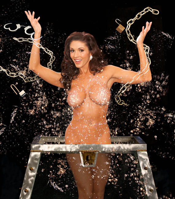 """Taya Parker performs and escape in """"Centerfolds of Magic"""""""
