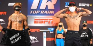 Official Weigh-in: Joshua Greer Jr. vs. Mike Plania; June 16 at 8 p.m. Live on ESPN & ESPN Deportes from the MGM Grand