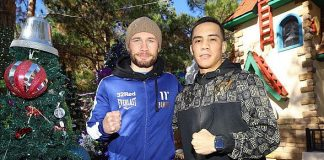 Boxers Carl Frampton and Oscar Valdez Pay Surprise Visit to Vegas Nonprofit Opportunity Village