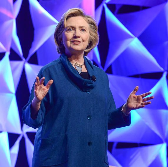 Former U.S. Secretary of State Hillary Rodham Clinton addressed members of the Institute of Scrap Recycling Industries