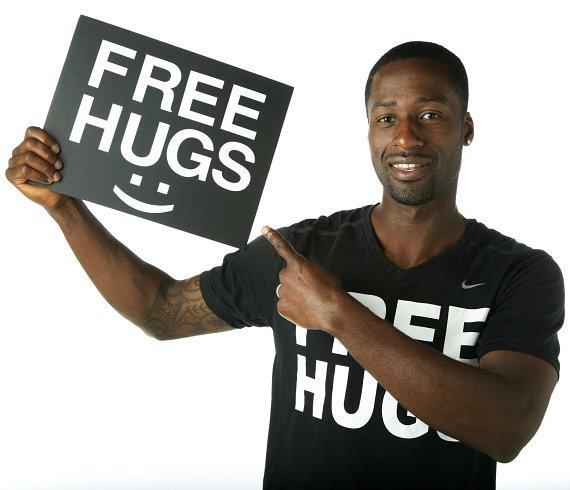 Ken E Nwadike Jr, the founder of the Free Hugs Project.