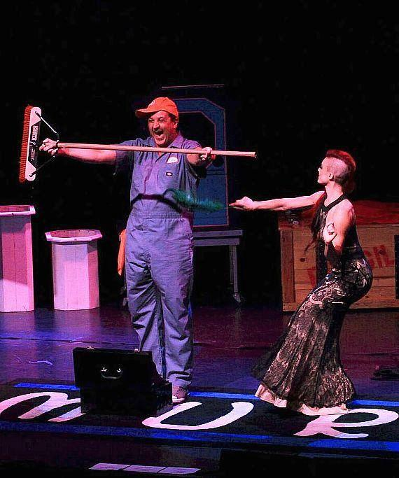 """Douglas """"Lefty"""" Leferovich and April Leopardi Anneberg perform at South Point Hotel Casino"""