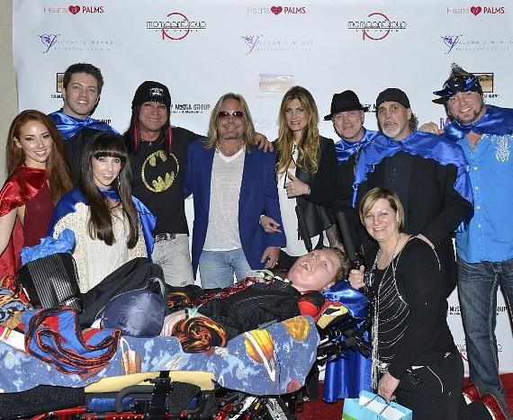 Vince Neil, Michael Godard, JD Scott, Horny Mike, Dirk Vermin and more Come Together to Surprise Teen with Spinal Muscular Atrophy (SMA)