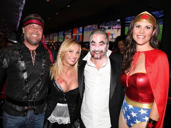 Guests at the D Casino Hotel on Halloween 2016